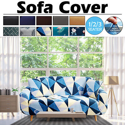 AU19.99 • Buy 1/2/3 Seater Sofa Covers Lounge Stretch Slipcover Washable Couch Chair Protector