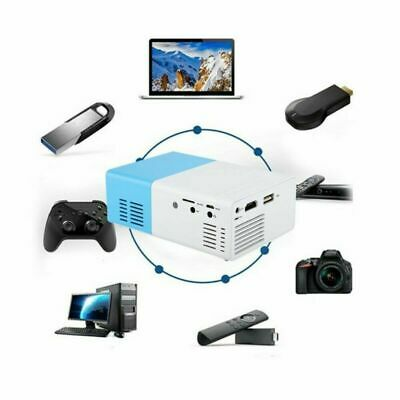 AU67.60 • Buy 600Lumens Mini YG300 LED Projector 3D Home Theater Cinema HD 1080P USB HDMI Blue