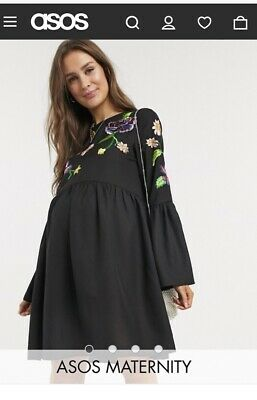AU20 • Buy Asos Maternity 14 Dress - Fluted Sleeves