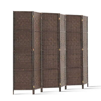 AU105.31 • Buy 6 Panel Privacy Screen Room Divider Wood Foldable Stand Folding Partition Brown