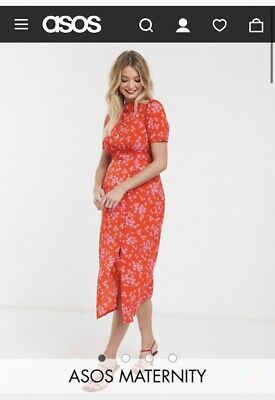 AU30 • Buy Asos Maternity Midi Tea Dress 16
