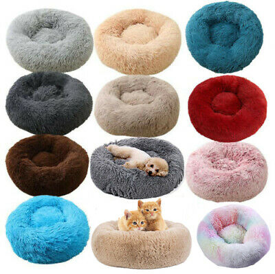 Dog Cat Pet Calming Bed Large Mat Comfy Puppy Washable Fluffy Plush Cushion Beds • 24.88£