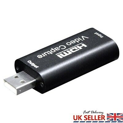 HDMI Video Capture Card USB 2.0/1080p HD 4K Recorder For Video Live Streaming UK • 10.45£