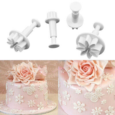 4x Sugarcraft Fondant Daisy Flower Mould CGS Cake Decorating Cutter Plunger Mold • 3.19£