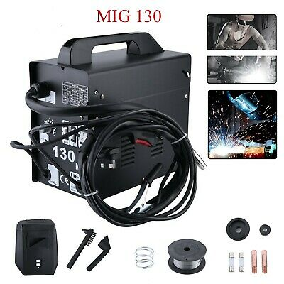 Portable Gasless MIG Welder 130 Amp Auto Flux Wire Feed Welding Machine 230V Kit • 70.89£