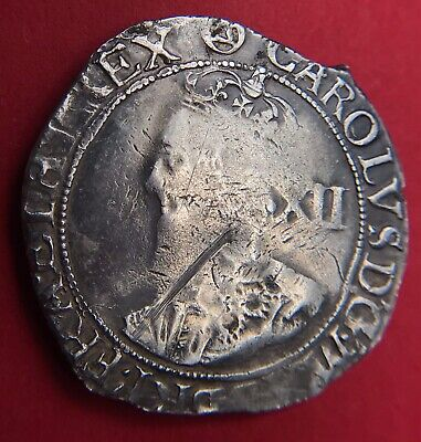 Charles I Shilling. S2799 Mm Triangle In Circle 1641-43 • 60£