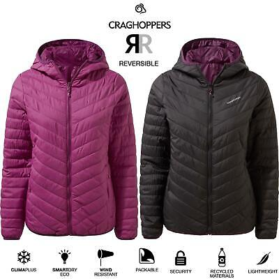 Craghoppers Womens Compresslite V Reversible Packaway Lightweight Hooded Jacket • 49.99£