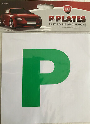 Magnetic Secure P Plates - 2 Pack - Easy To Fit And Remove • 1.20£