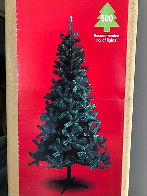 L@@K BRAND NEW BOXED 7ft / 210cm HIGH GREEN ARTIFICIAL CHRISTMAS TREE • 10£