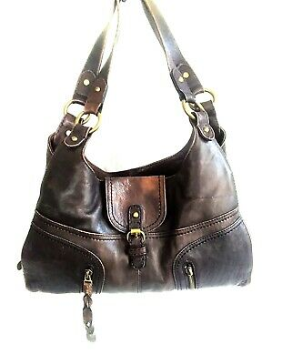 M&S AUTOGRAPH Distressed Brown Shoulder Bag • 9.99£