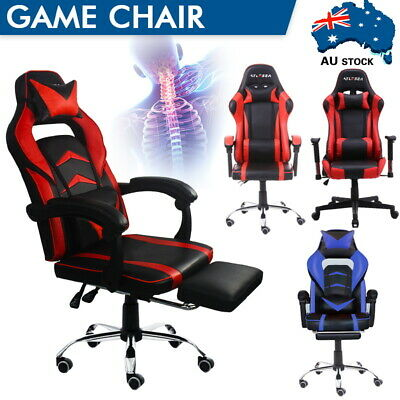 AU120.99 • Buy Executive Computer Office Chair Gaming Chair Racer Recliner Chairs Work Seat AU