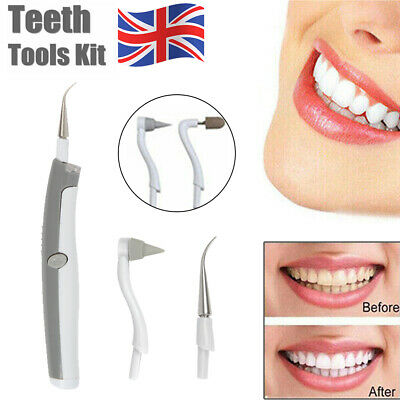 Electric Dental Tooth Stain Polisher Teeth Whitener Plaque Eraser Remover UK • 3.99£