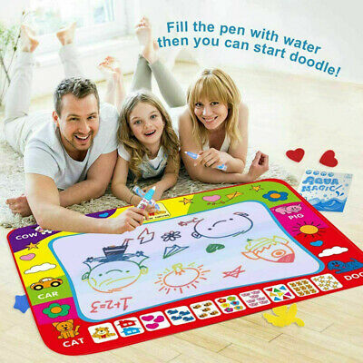 Doodle Water Painting Drawing Mat Large Writing Board Magic Pen Kids Toy • 6.74£