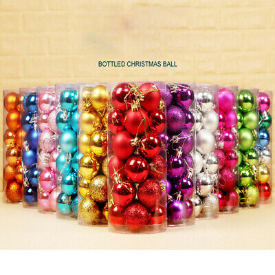 $7.59 • Buy 30mm Christmas Xmas Tree Ball Bauble Hanging Home Party Ornament Decor