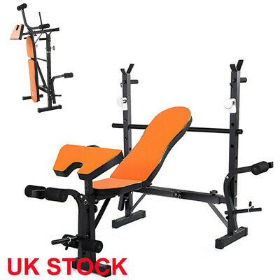 UK Folding Weight Bench Home Gym Equipment Lifting Chest Press Exercise Fitness • 189.55£