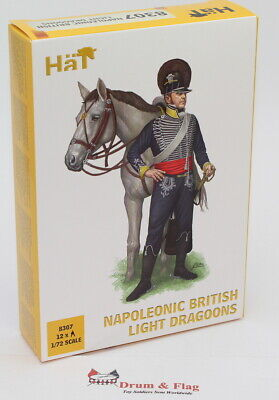 HaT 8307 Napoleonic British Light Dragoons 1/72 Scale. Plastic Toy Soldiers. • 10.95£