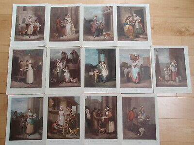 Set Of 13 CRIES OF LONDON Series Prints By FRANCIS WHEATLY RA From 1910 Book  • 2.70£