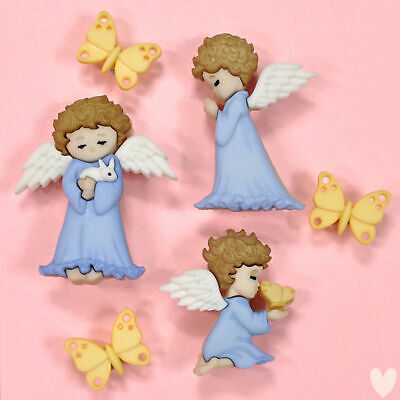£2.99 • Buy DRESS IT UP Buttons Cherished Angels 8979 - Embellishment  - Xmas