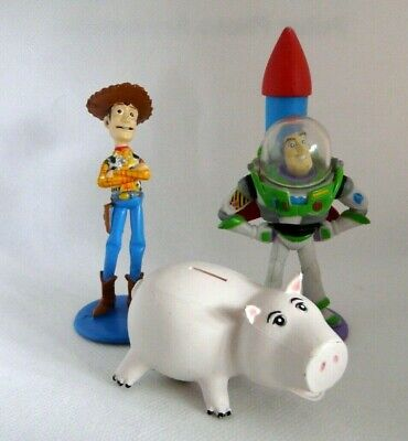 Toy Story Disney Buzz Lightyear - Woody - Hamm Toy Figures / Cake Toppers • 4£