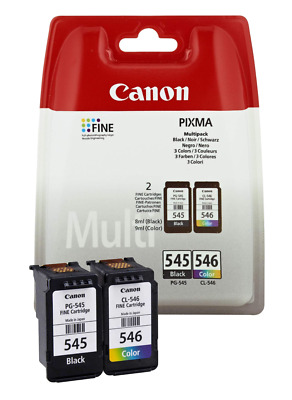 Original Canon PG545 And CL546 Combo Genuine Ink Cartridges For PIXMA Printer • 33.99£
