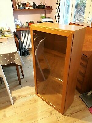 Vintage Beaver And Tapley 33 Wall Display Drinks Cabinet Floating Unit. Teak • 25£