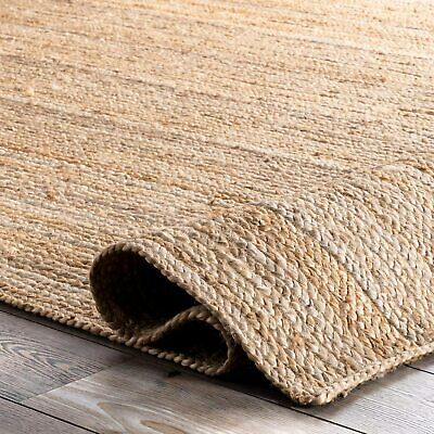 Rug Rectangle Natural Handmade Rustic Look Runner Braided Style Reversible • 24.69£