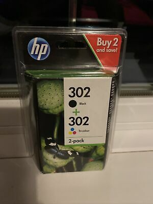 Original HP 302 Combo Two Pack Black / Tri-colour Genuine Ink Cartridges • 27.99£