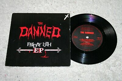 THE DAMNED FRIDAY 13th 1981 EU 7  VINYL EP • 5.70£