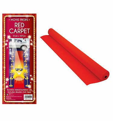 £6.80 • Buy 15FT HOLLYWOOD VIP RED CARPET Party Floor Runner Prom Birthday Prop Decoration