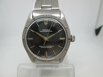 $ CDN1105.27 • Buy Rolex Oyster Perpetual Ref1007 Cal1560 Engine Turn Bezel Ss Automatic Mens Watch