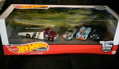 AU44.99 • Buy Hot Wheels Team Transport Garage Jaguar E Type Porsche 917kh Mercedes 300 Sl Set