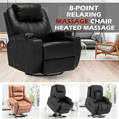 AU469.90 • Buy Recliner Electric Massage Chairs Heated Lift Lounge Sofa Seating Remote Control