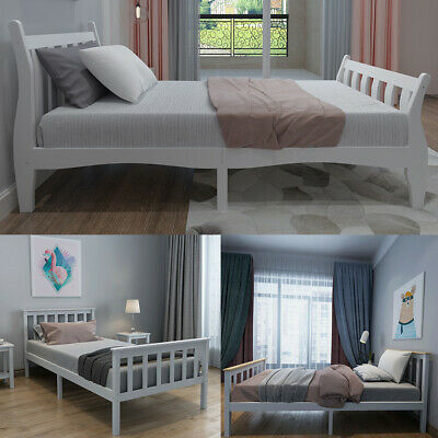 Single Wooden Bed Frame Boys&Girls Bed For Adult Children Fits 190*90CM Mattress • 98.99£