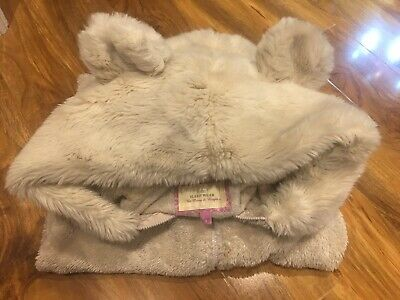 Adult Cream NEXT Teddy Bear Cosy 1Onesie. Luxury Giant Fur Hood/Tail. Size 10-12 • 29.99£