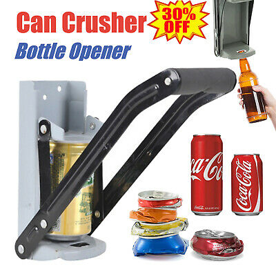 16OZ 500ml Can Crusher Recycling Tool Wall Mounted Beer Tin Bottle Opener Tools • 7.40£