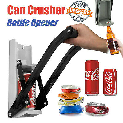 16oz 500ml Large Beer Tin Can Crusher Wall Mounted Recycling Tool Bottle Opener • 7.40£