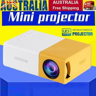AU52.19 • Buy 2020 YG300 Pro Projector LED 800 Lumens 3.5mm Audio HDMI USB Mini Projector U0E7