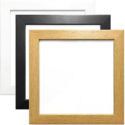 Square Picture Frames Real Glass Poster Frame Modern Photo Frames Wood Effect- • 6.99£