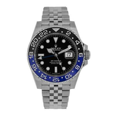 $ CDN24602.80 • Buy Rolex GMT Master II Steel Black Dial Batman Ceramic Bezel Watch 126710BLNR