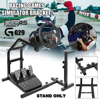 Racing Steering Wheel Stand Game Support Stand Up Simulation Driving Bracket G29 • 45.99£