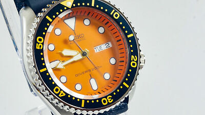 $ CDN209.75 • Buy Seiko SKX011 MOD Scuba Diver WR200M Orange NH36 Upgraded Automatic Movement