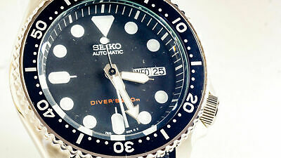 $ CDN209.75 • Buy Seiko SKX007 MOD Scuba Diver WR200M Black NH36 Upgraded Automatic Movement