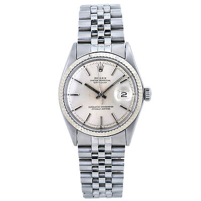 $ CDN5547.81 • Buy Rolex Datejust 1601 Jubilee Men's Watch 18K White Gold Bezel 36mm
