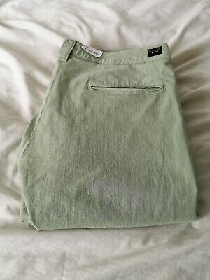 Edwin Ed-55 Stretch Tapered Chinos Jeans Mint Pastel Green 36w 33l G-star Nudie  • 40£