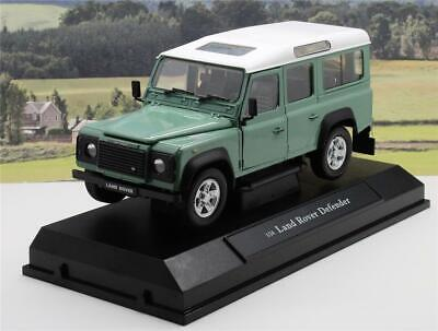 Green LAND ROVER DEFENDER Diecast Model Boys Toy Dad Xmas Present Gift Boxed New • 24.95£