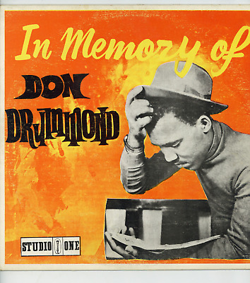 IN MEMORY OF DON DRUMMOND.  Don Drummond. STUDIO ONE JA Orig L.P. • 14.95£