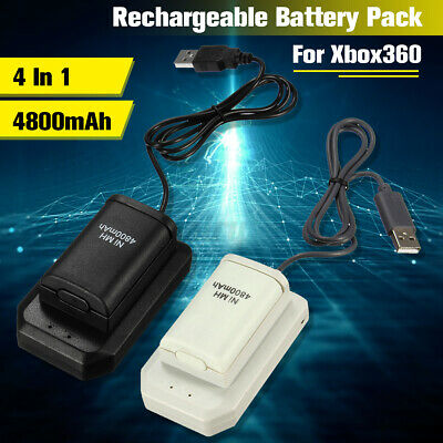 AU17.98 • Buy Console Wireless Controller For Xbox 360 Battery Rechargeable Pack Charger