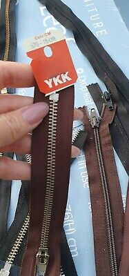 AU10.50 • Buy YKK Metal Zipper (10 Zippers) Different Colours And  Lengths.