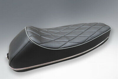 Vespa Pe Px Lml Sports Seat Quilted With Stainless Trims • 89.95£