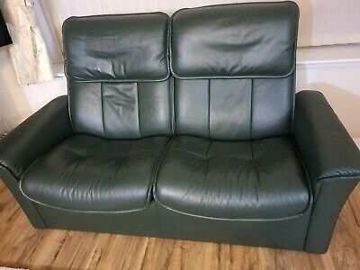 Stressless Admiral 3 Piece Leather Suite / Footstool / Storage Footrest / Swivel • 250£